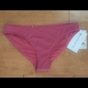 NWT Athleta pink bikini bottoms Sz Small